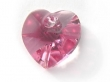 6202 Swarovski Elements Heart Pendant ROSE 10